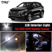 TPKE 8Pcs לבן רכב LED פנים אורות חבילה עבור 2010 2016 יונדאי טוסון מפת כיפת לוחית רישוי תא מטען אור