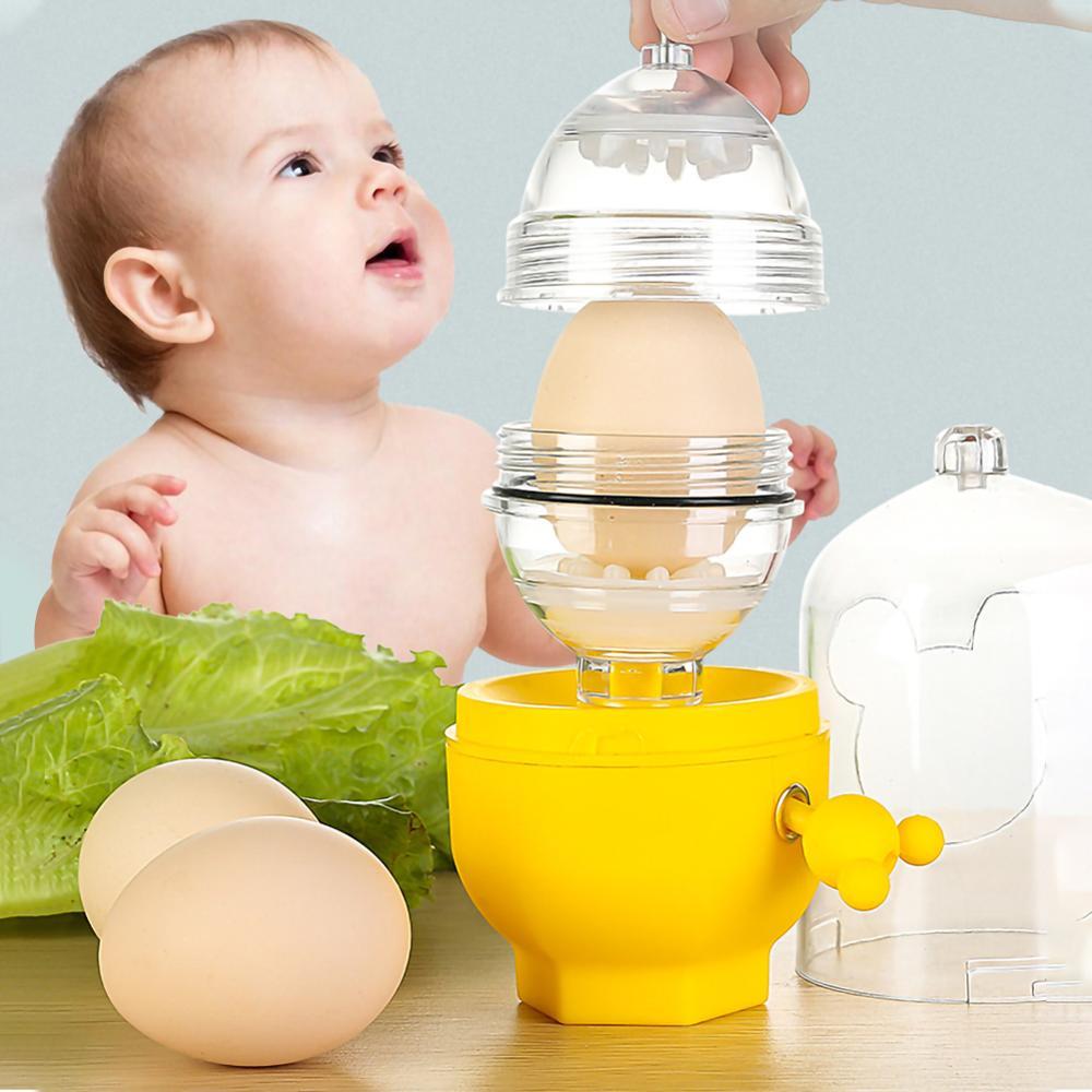 Венчик для смешивания яиц с желтком внутри, кухонная утварь с золотистыми насадками, шейкер, Мультитул, бытовой слайсер