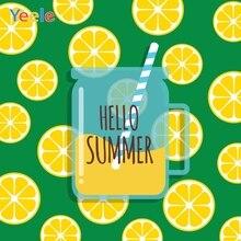 Yeele Summer Party Photocall Lemon Drinks Cool Swim Photography Backdrops Personalized Photographic Background For Photo Studio