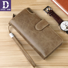 DIDE Brand Luxury Long Clutch Handy Bag Genuine Leather Wallet Men/Women Clutch Bag Male Coin Purse Card Holder Large Capacity