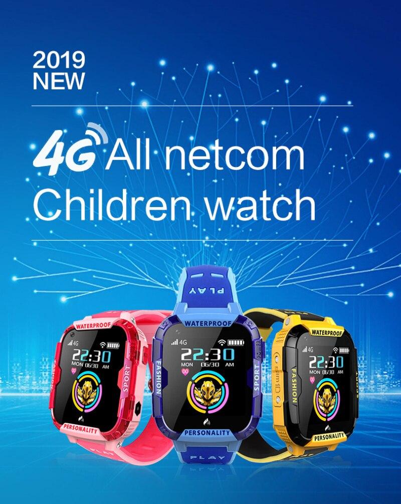 T19 GPS bébé enfants montre intelligente enfants bracelet bracelet IP68 écran tactile LBS WIFI SOS SIM vidéo Chat enfant montre super bande