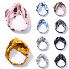 Fashion Plaid Knot Headband Turban Elastic Hairband Head Wrap Hair Accessories for Women Girls Striped Headwear Accessories Hot
