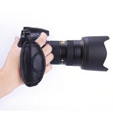Schwarz Hand Grip Kamera Strap PU Leder Hand Strap Für Dslr Kamera Für Sony Für Nikon Für Canon D800 D7000 d5100 D3200