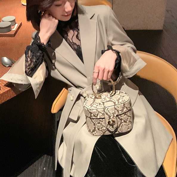 Large size women's mid-length women's jacket small suit Korean version of autumn and winter high quality loose Female Blazer