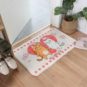 Image 3 - Décor à la maison Animal paillasson Shaggy Latex bas Machine lavage salle de bain cuisine tapis tapis dessin animé cochons intérieur entrée tapis de sol