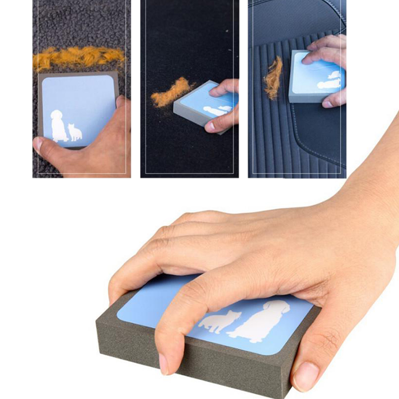 HIPET Pet Fur Cleaner Combs Dog Cat Hair Removal Brush Portable Hand Easy Use Sofa carpet Bed Mat Cleaning Tools Pets Supplies in Dog Combs from Home Garden