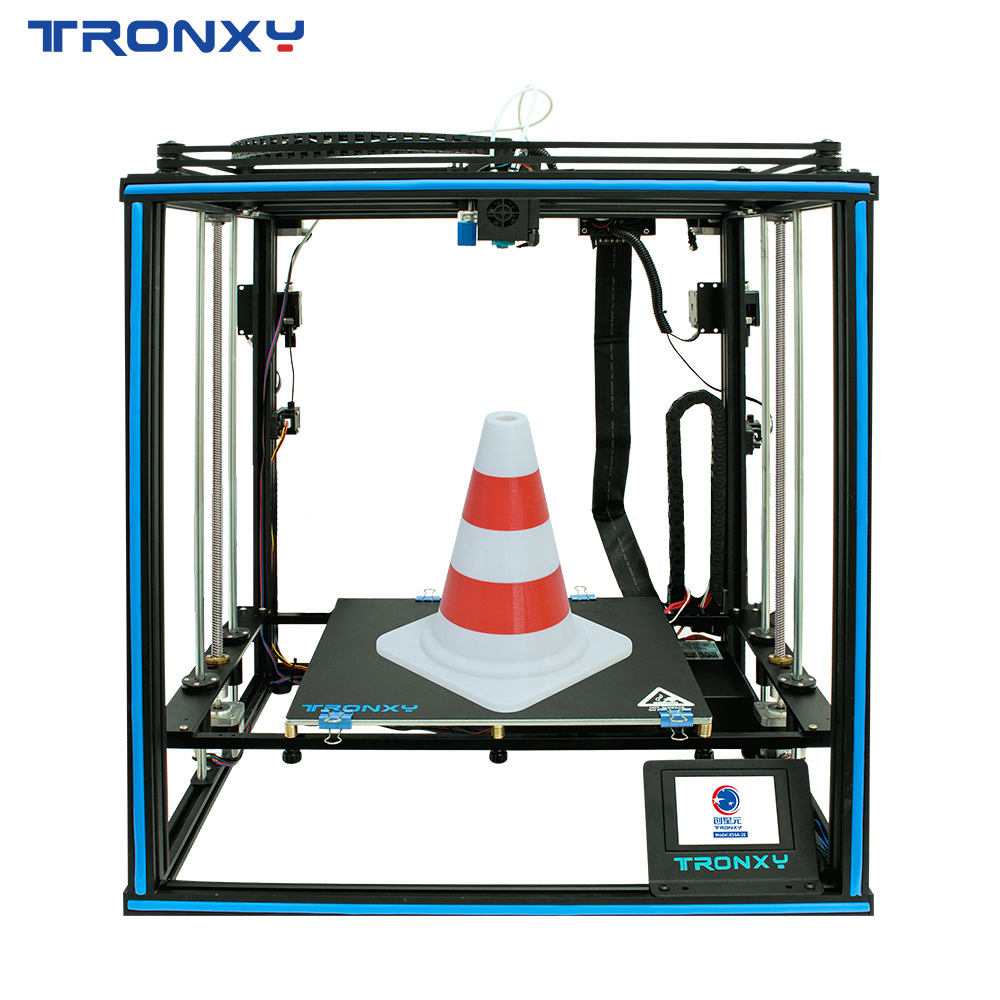 Tronxy 3D Printer X5SA-2E Dual Extruder 2 in 1 out Two Color Head DIY Kits 3D Machine 330*330mm Auto level Printing impresora 3d