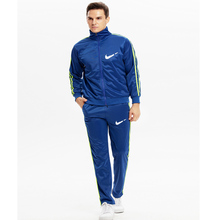 New mens sports suits workout clothes running casual sportswear spring and autumn fitness