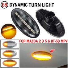 Para mazda 2 2003 2014 para mazda 3 5 6 BT 50 mpv carro led dinâmico turn signal light lado marcador indicador fender blinker lâmpada