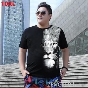 Image 1 - Plus size verão camiseta 8xl super grande tamanho solto maré manga curta camiseta em torno do pescoço 10xl 9xl 7xl