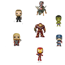 5pcs lot marvel movie masks avengers hulk captain america batman spiderman ironman party mask boy gift action figures toys e FUNKe POP Marvel Avengers #23 #126 #66 Iron Man Black Widow #137 Captain America Action Figure Toys Cute Groot  Hulk Model Dolls