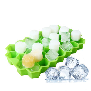 Image 4 - Home Kitchen Ice Cube Tray Summer Honeycomb Shape Ice Cube 37 Cubes Ice Tray Ice Cube Mold Storage Containers Drinks Molds