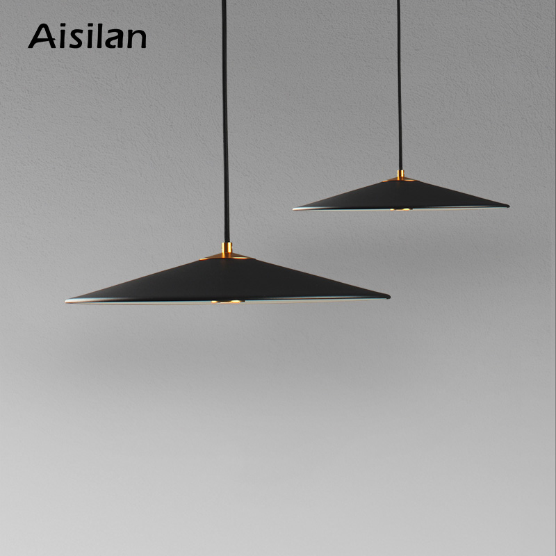 Aisilan LED minimalist Pendant light hanging light modern Nordic light luxury creative personality cafe single head bar