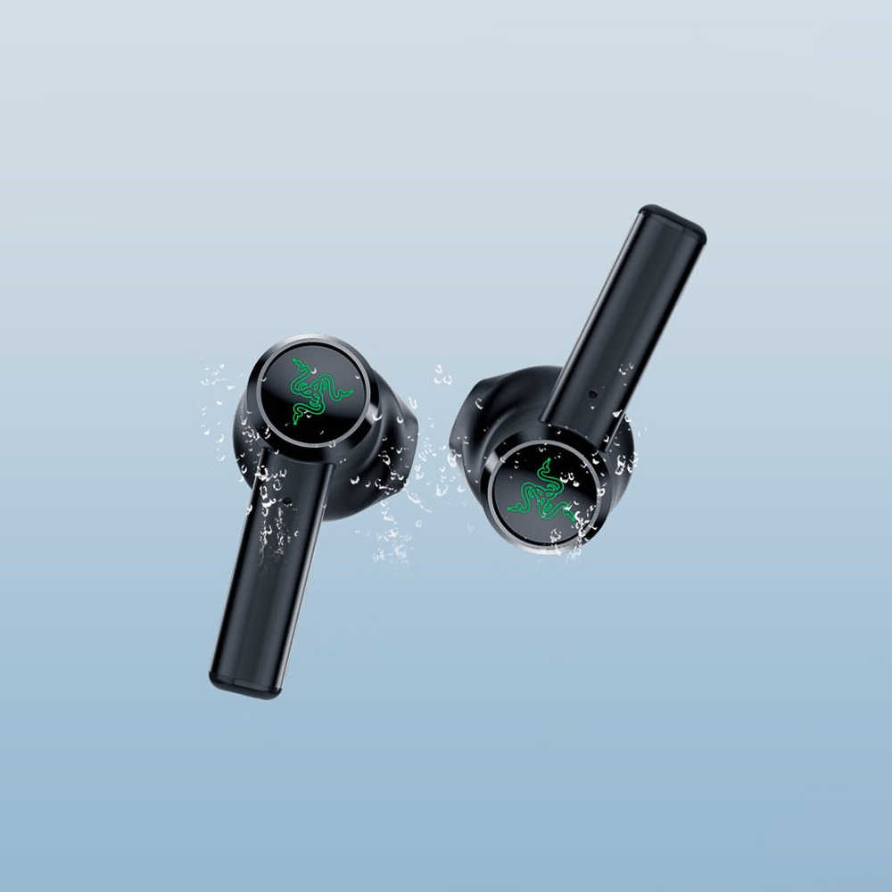 Oryginalne słuchawki Razer Hammerhead Bluetooth 5.0 TWS bezprzewodowe słuchawki douszne do gry bardzo krótki czas oczekiwania połączenie z etui z funkcją ładowania