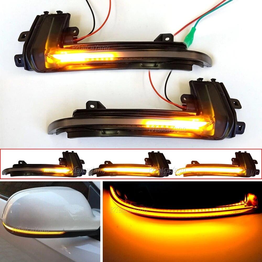 Dynamische Scroll LED Blinker Licht Für Audi A4 A5 B8 B 8,5 A3 8P Q3 A6 C6 Sequentielle rückspiegel Anzeige Blinker Licht