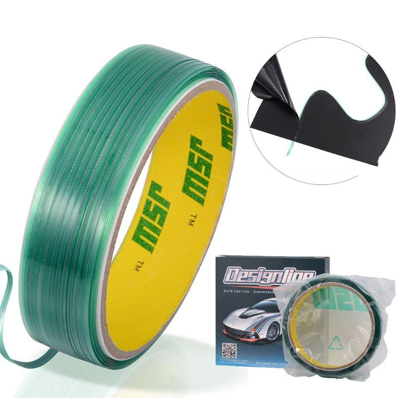50M Knifeless corte diseño línea cinta película escurridor de pegatina herramienta de envoltura Flexible M2ED