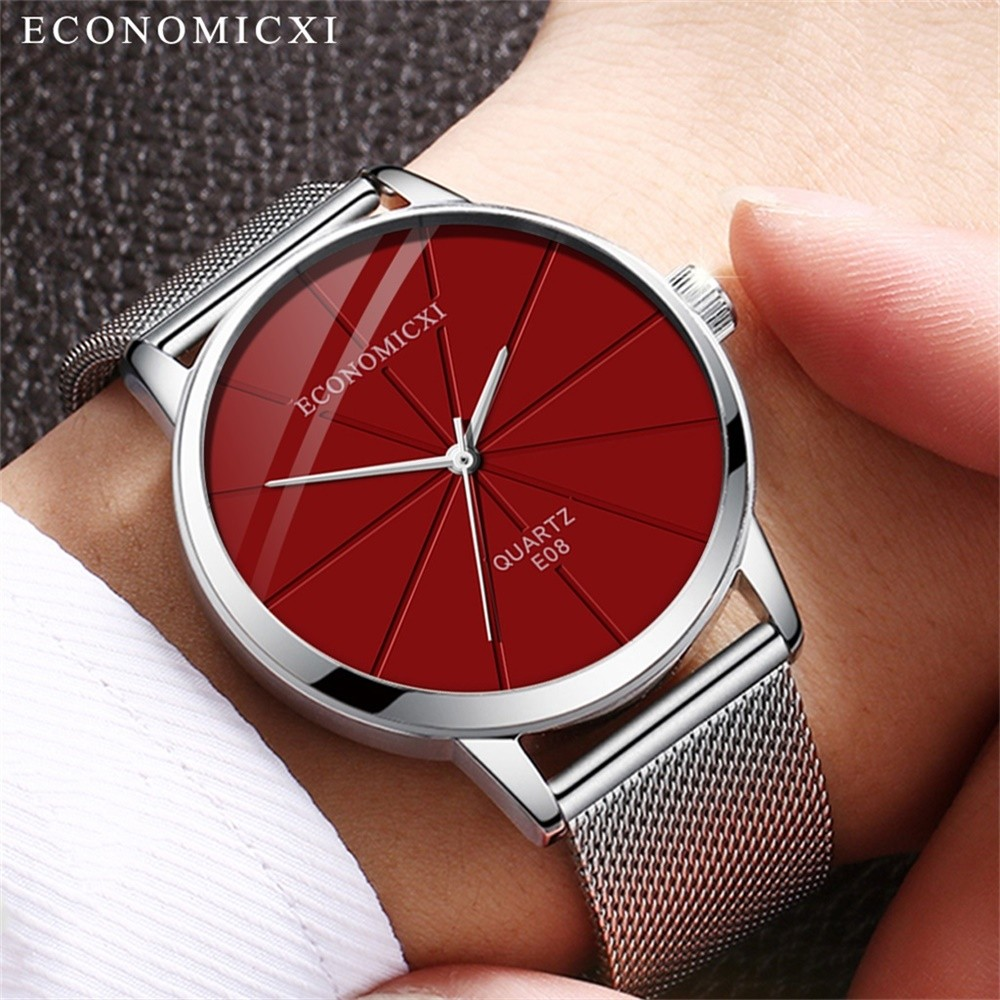 Men's Business Simple Stainless Steel Quartz Mesh Watch ремешок для часов