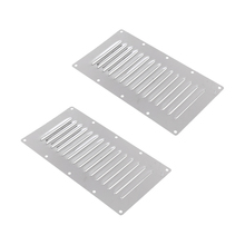 2x Marine Stainless Steel Louvered Rectangle Vent For Boat Caravan 228x127mm