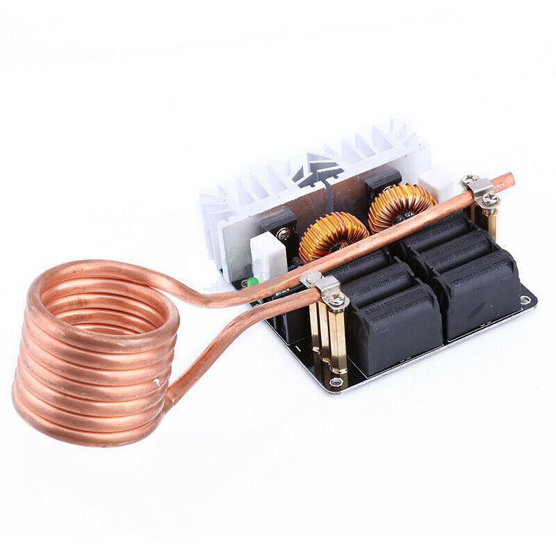 Módulo de placa de calentamiento de inducción de baja tensión ZVS de 1000W, controlador Flyback, calentador DIY
