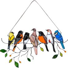 Stained Bird Window Hangings Acrylic Wall Hanging Birds Decor Room Accessories Scandinavian Decor Mothers Day Gifts