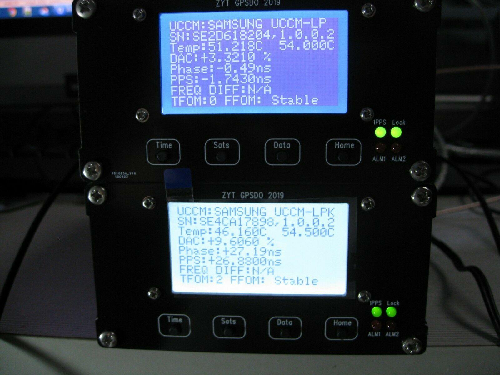 Free Shipping SAMSUNG STP2878LF LCD GPSDO 10MHz 1PPS OCXO GPS Disciplined Oscillator 2019-5-8