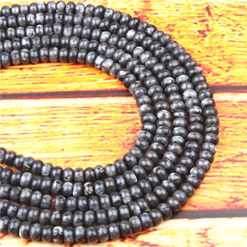 Glitter Stone Natural Gem 4X6/5X8MM Abacus Bead Spacer Bead Wheel Bead Accessory For Jewelry Making Diy Bracelet Necklace