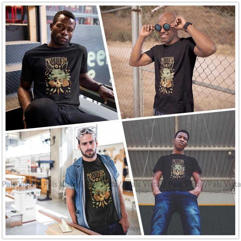 Camiseta Mastodon con LOGO de MASTODON 2018 Cancan 1, camiseta Casual con estampado, camiseta de manga corta de gran tamaño para hombre, Camiseta de algodón 100