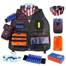Enfants noir tactique pistolet accessoires gilet porte-munitions Elite pistolet balles jouet pince fléchettes pour Nerf