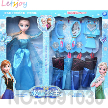 Beauty fashion cartoon doll girl  Princess elsa and Anna xmas gift toys for girlfriend kids action figure Model Movie & TV