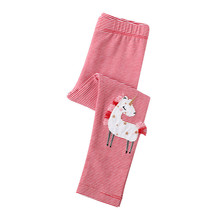 Jumping meters Autumn Spring Unicorn Applique Legging Pants Girls Stripe Trousers New  Pencil Pants Kids Girls Skinny Pants