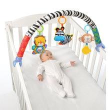 I bambini cellulare musicale per bambini giocattoli di peluche arco sul letto per i più piccoli di crepitio del bambino appena nato della ragazza del ragazzo giocattolo per passeggino bambini 0 12 mesi