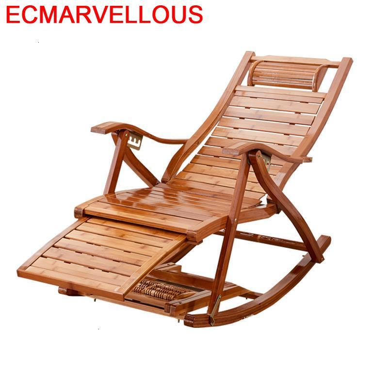 Relax Sillon Bureau Arm Rocking Chair Cama Plegable Sillones Moderno Para Sala Folding Bed Fauteuil Salon Bamboo Chaise Lounge