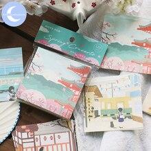 Stationery-Notes Memo-Pad Papeleria Japanese Sakura Notepad Office-Supply School Portable