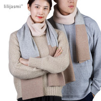 Unisex 180*30cm Cashmere Wool Blend Knitted Scarf 3 Tones Match Hot Women Scarves Long Wool Solid Winter Men Scarf Couples