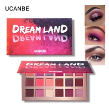 UCANBE Makeup Shimmer Matte Dreamland Eyeshadow Palette 18 Color Peachblossom Pigmented Eyes Shadow Long Lasting Cosmetics