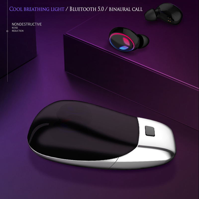 Wireless Earbuds 5 0 Bluetooth Earphone Handfree Headset Waterproof Stereo Sport Binaural Call Earphone For Smartphone in Bluetooth Earphones Headphones from Consumer Electronics