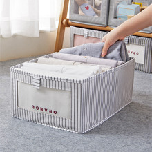 Storage Box Non-Woven Household Wardrobe Clothes Sorting Case Lidless Easy Organizer Folding Box With Transparent Window
