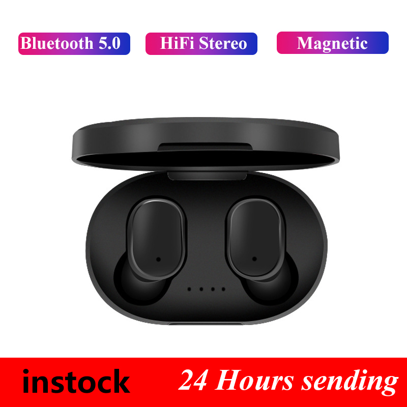 A6S Bluetooth Headsets PK Redmi Airdots Wireless Earbuds 5 0 TWS Earphone Noise Cancelling Mic for Xiaomi iPhone Huawei Samsung in Phone Earphones Headphones from Consumer Electronics