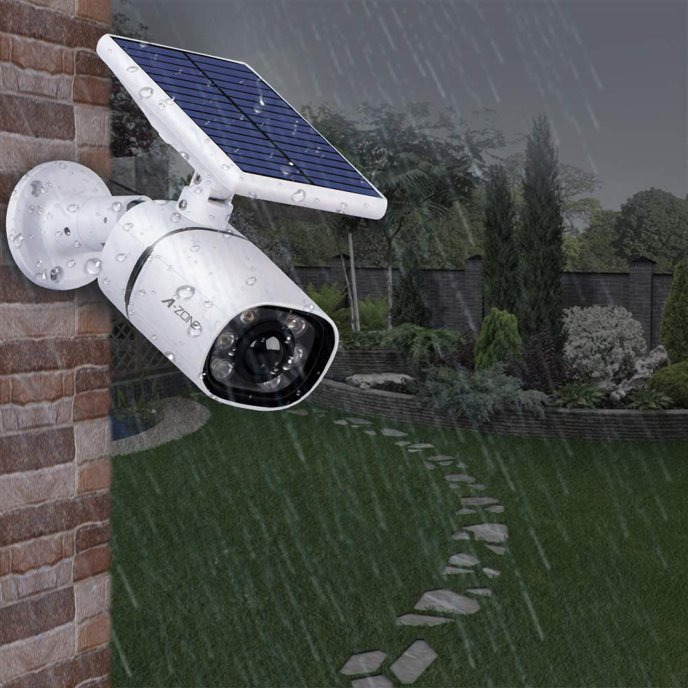 Fake Surveillance Camera Outdoor Video LED Solar Security Lights With Motion Sensor IP66 Waterproof Adjustable Solar Motion
