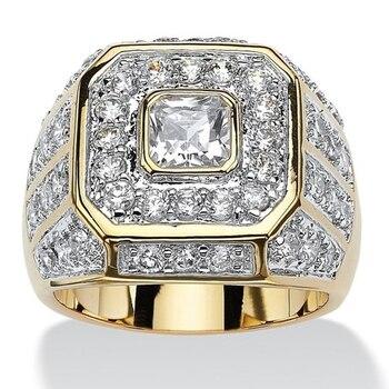 טבעת אירוסין גולדפילד עם קריסטלים