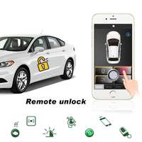 Mobile APP car alarm system remote start for toyota 4 runner car security auto start alarm central locking car start stop button