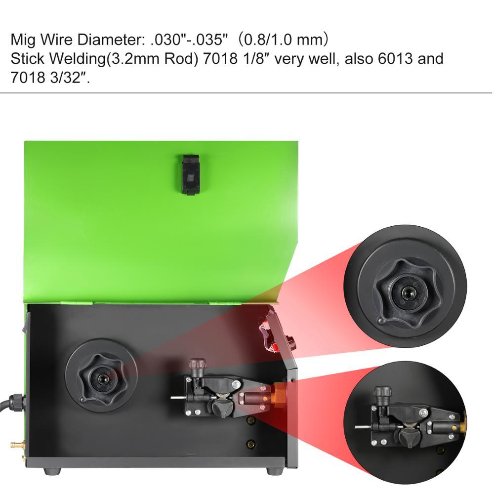 Image 4 - إعادة التمهيد MMA ماج MIG لحام MIG 175 تدفق سلك موصل معزول و سلك صلب IGBT آلة لحام للعاكس اليورو التوصيل الغاز/لحام الغازلحامات MIG   -