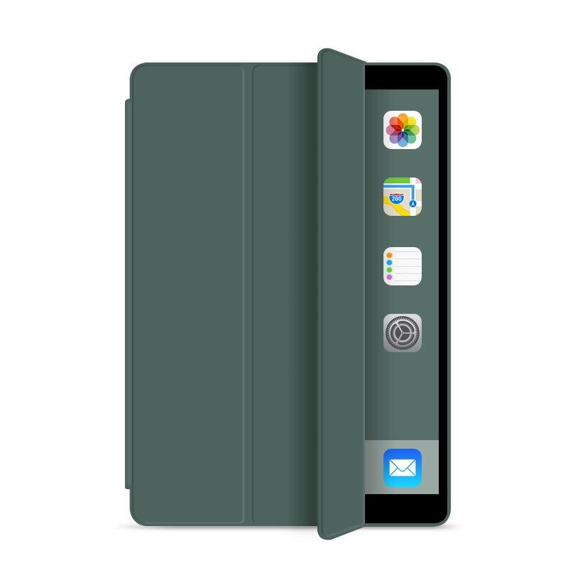 dark green Blue Silicone Cover Case For iPad 10 2 Case For iPad 8th 7th Generation Cover For Model
