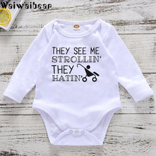 Waiwaibear Newborn Baby Rompers Infant  Toddler Long-Sleeved Jumpsuits Cotton Clothes Boys And GIrls