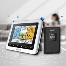 Waterproof Wireless Weather Station Forecast Temperature Sensor Barometer Digital Outdoor Thermometer Hygrometer Alarm Clock