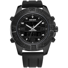 Men New  Quartz Watch Silicone Fashion Digital Sports Watches Waterproof Shockproof Chronograph Wrist watch