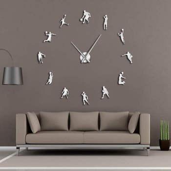 EVA zegarek w koszykarze DIY duży zegar ścienny koszykówka Slam Dunk Kid dekoracja ścienna do pokoju Giant koszykówka zegar ścienny prezenty tanie i dobre opinie CN (pochodzenie) Akrylowe DIGITAL