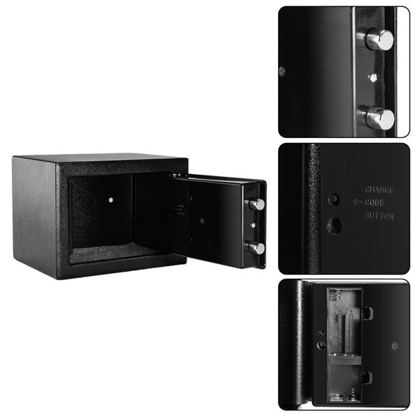 Cash box Safe cabinet with wall-mounted electronic password mini safe black