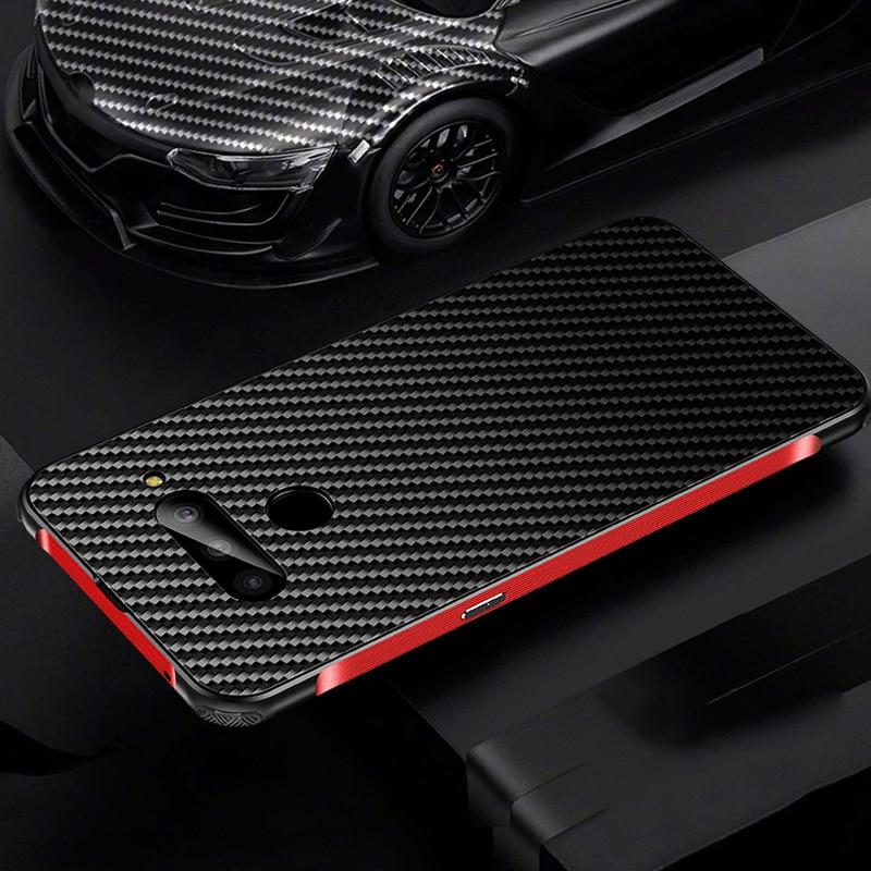 Luxury Aluminum Metal Case For LG G8 ThinQ/ G7 ThinQ/ V50 ThinQ 5G/ V40 ThinQ Thin Hard Carbon Fiber Elements Back Cover Case фото