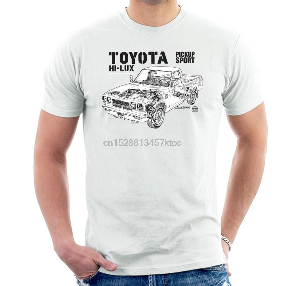 Классического японского автомобиля Hi Lux новая мужская футболка модная мужская футболка Бесплатная доставка 80S футболки